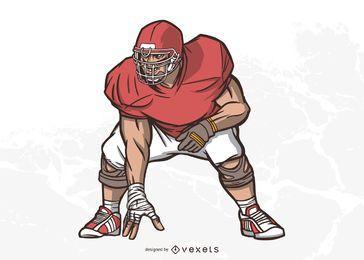 Ilustración de jugador de fútbol americano