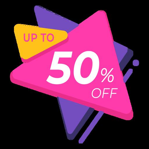 50 label sale colourful design Transparent PNG