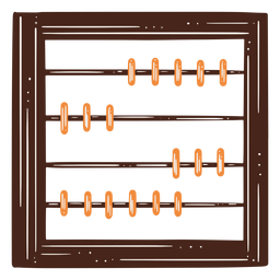 Elemento dibujado a mano herramienta matemática ábaco
