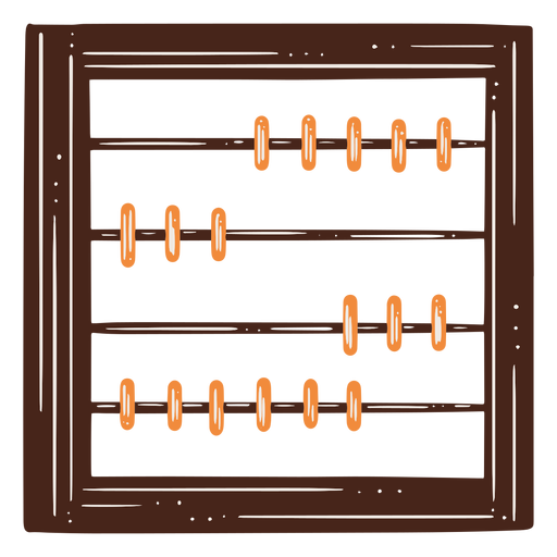 Abacus math tool hand drawn element