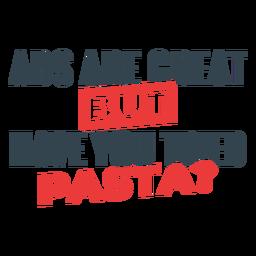 Abs são grandes, mas frase de treino de massas