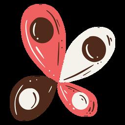Diseño abstracto de mariposa