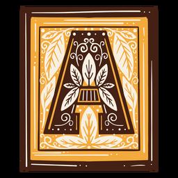 Letra del alfabeto un diseño antiguo