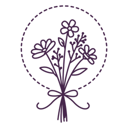 Assorted stroke bouquet design