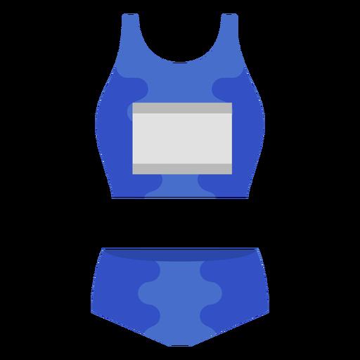 Ropa deportiva atlética plana