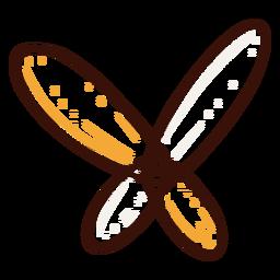 Dibujado a mano icono de átomo