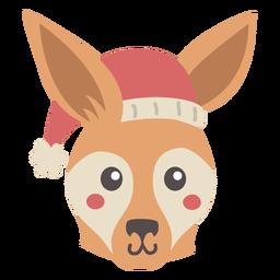 Australian red kangaroo flat design