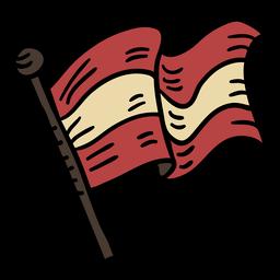 Diseño a mano del símbolo coloreado de la bandera austríaca