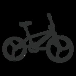 Silhueta de bicicleta BMX
