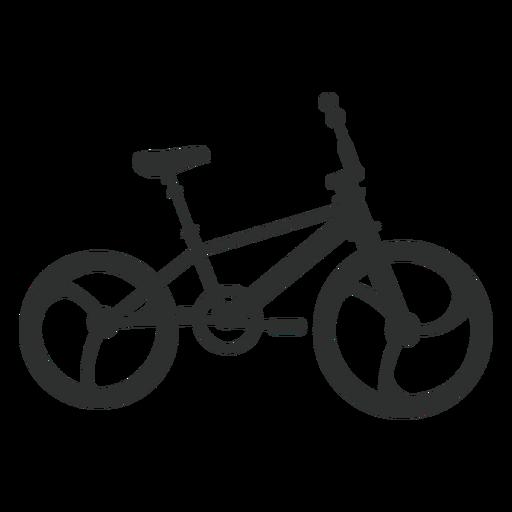 Silueta de bicicleta bmx Transparent PNG