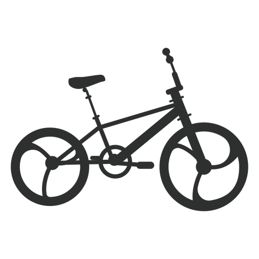 Silueta de bicicleta bmx