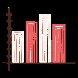 Elemento dibujado a mano gráfico de barras