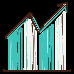 Gráfico de barras dibujado a mano barra de elementos