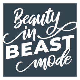 Beast mode lettering phrase workout