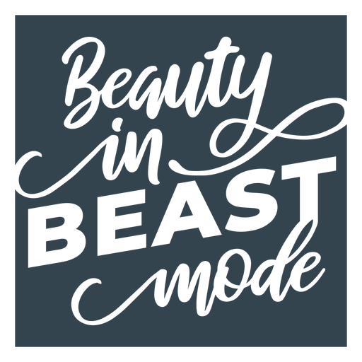 Beast mode lettering phrase workout Transparent PNG
