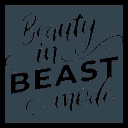 Entrenamiento de frase de letras en modo bestia