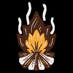 Lagerfeuer handgezeichnetes Element
