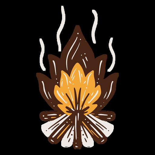 Bonfire hand drawn element