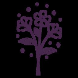 Bouquet stroke illustration design