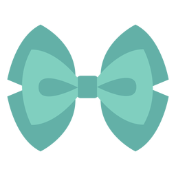 Bubble bow ribbon flat