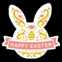 Distintivo de figura escandinava de coelho páscoa