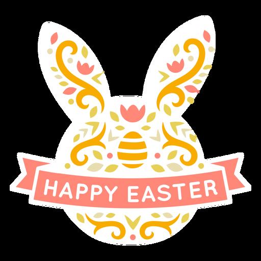 Bunny easter scandinavian figure badge