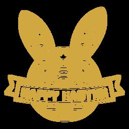 Bunny easter scandinavian figure badge vinyl