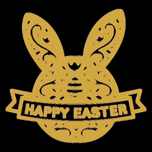 Bunny easter scandinavian figure badge vinyl Transparent PNG