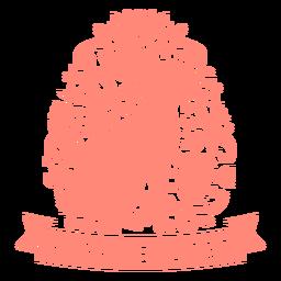Conejito feliz pascua pascua escandinavo insignia vinilo