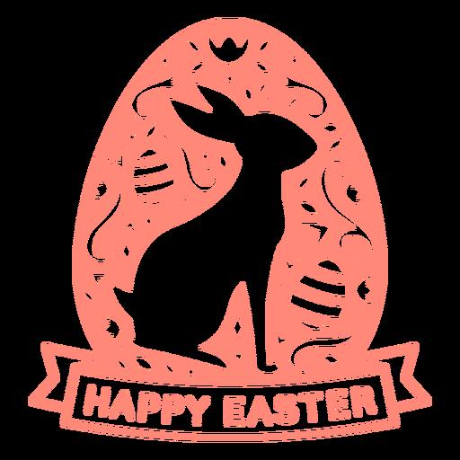 Bunny happy easter scandinavian vinyl