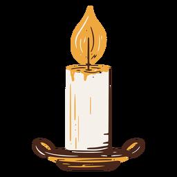 Elemento dibujado a mano vela