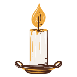 Elemento dibujado mano vela