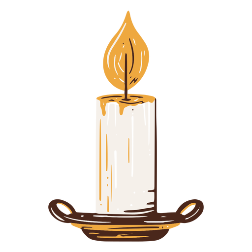 Candle hand drawn element Transparent PNG