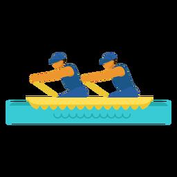 Pictograma paralímpico de canoa