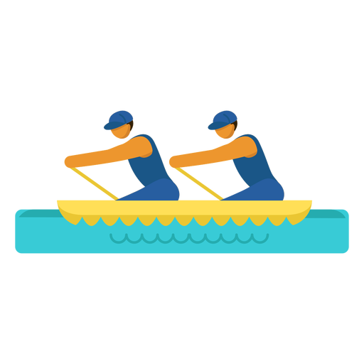 Canoe paralympic pictogram Transparent PNG