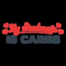 Frase de entrenamiento del alma gemela de carbohidratos