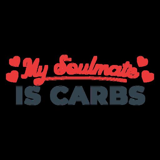 Frase de entrenamiento del alma gemela de carbohidratos Transparent PNG