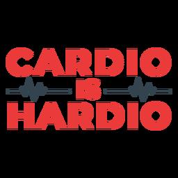 Cardio é frase de treino hardio