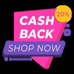 Cash back shop now sale label