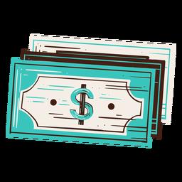Elemento desenhado à mão para economia de dinheiro