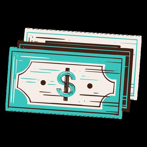 Cash economy hand drawn element