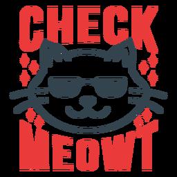 Verifique meowt frase de treino engraçado