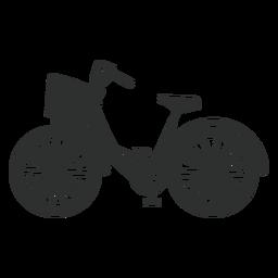 Silhueta de bicicleta da cidade
