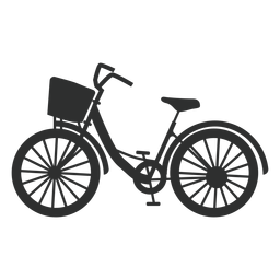 Silueta de bicicleta de ciudad