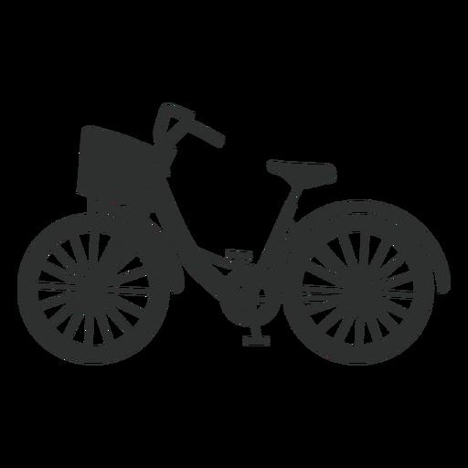 Silueta de bicicleta de ciudad Transparent PNG