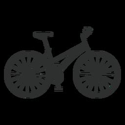 Silueta de bicicleta mujer clásica