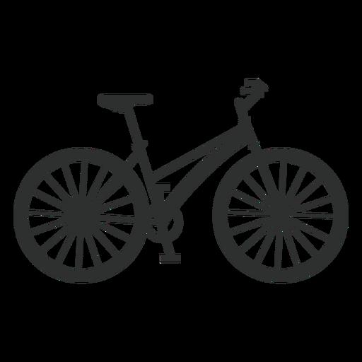 Classic woman bike silhouette