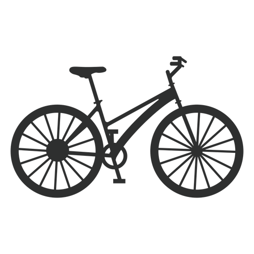 Silueta de bicicleta mujer clásica Transparent PNG