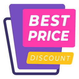 Colourful best price discount label