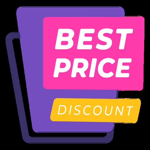 Etiqueta de descuento de mejor precio colorido - Descargar PNG/SVG  transparente